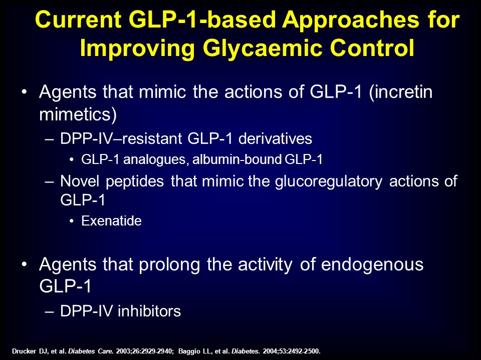 Current GLP-1-based Approaches for Improving Glycaemic Control