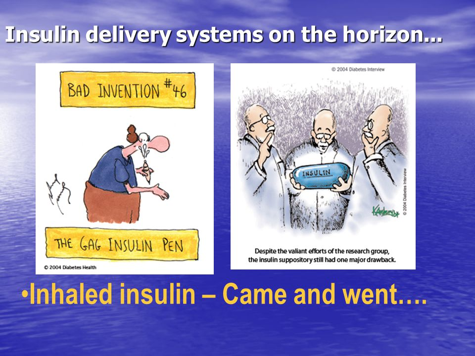 Insulin delivery systems on the horizon...