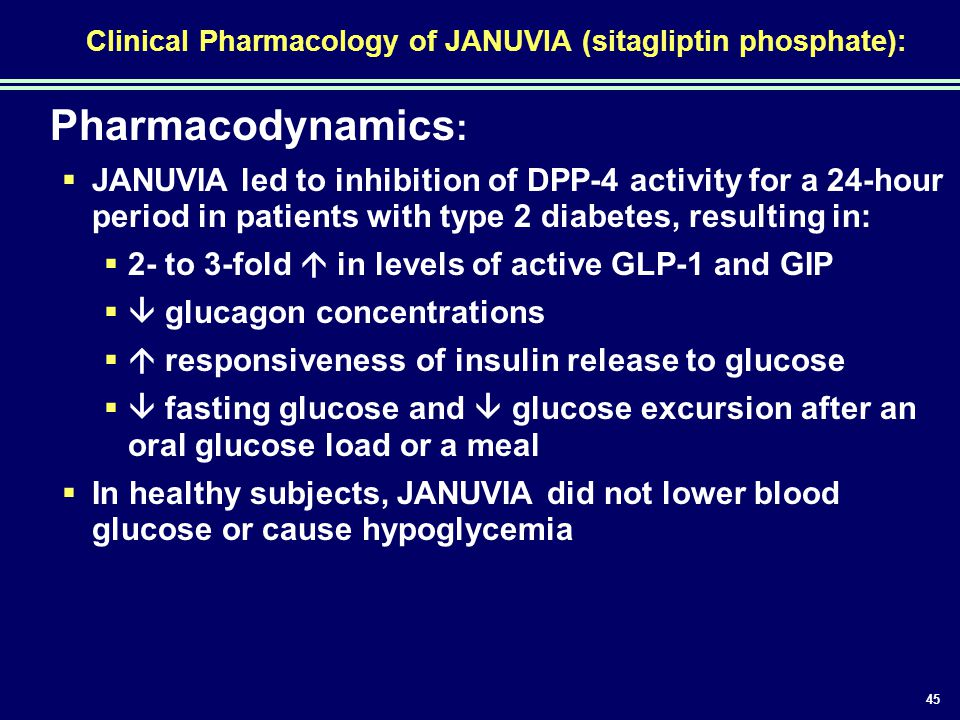 Clinical Pharmacology of JANUVIA (sitagliptin phosphate):