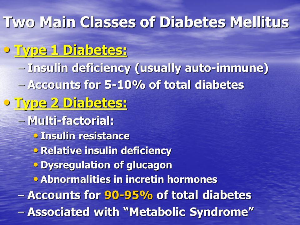 Two Main Classes of Diabetes Mellitus