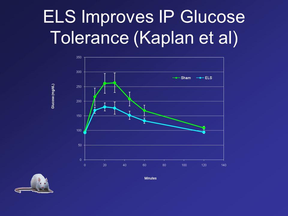 ELS Improves IP Glucose Tolerance (Kaplan et al)