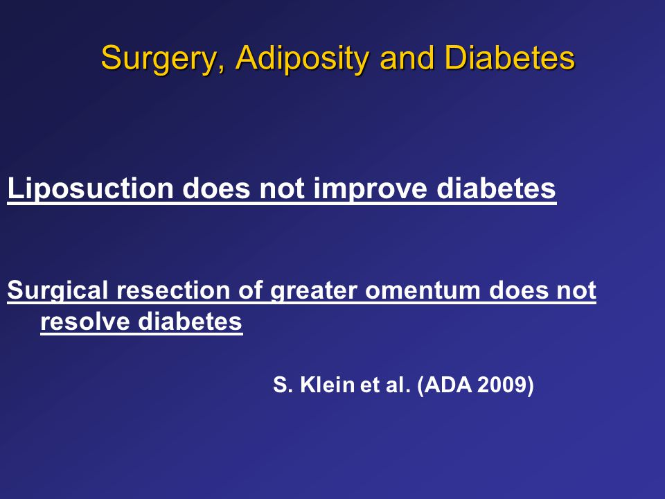 Surgery, Adiposity and Diabetes