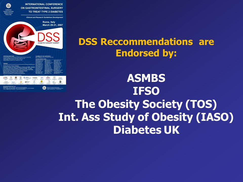 The Obesity Society (TOS) Int. Ass Study of Obesity (IASO) Diabetes UK