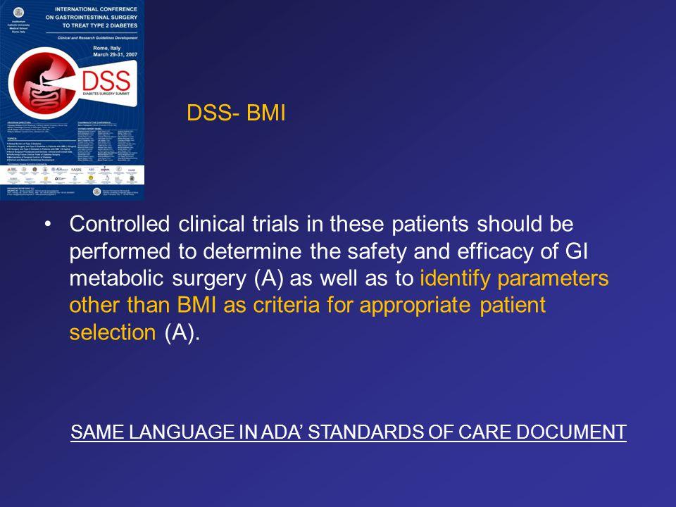 DSS- BMI