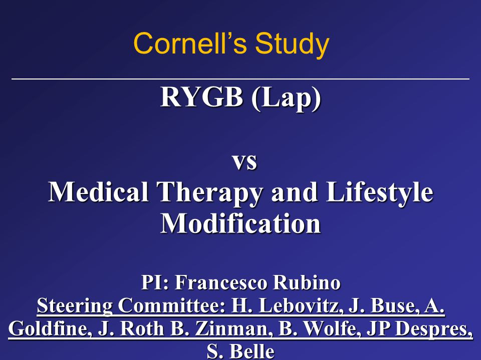 Medical Therapy and Lifestyle Modification