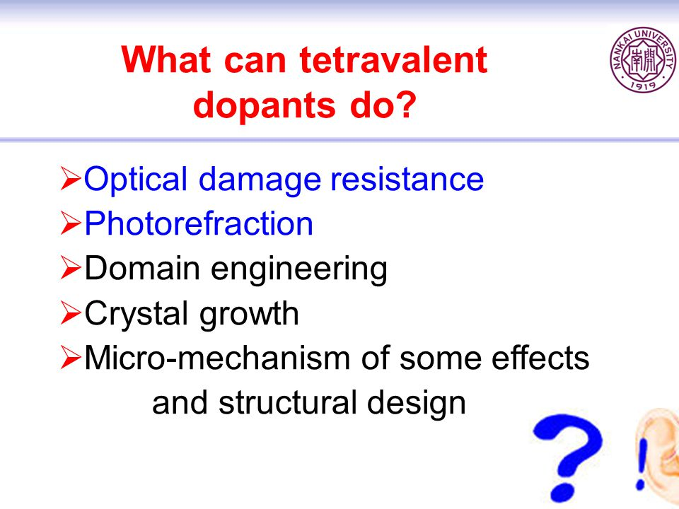 What can tetravalent dopants do