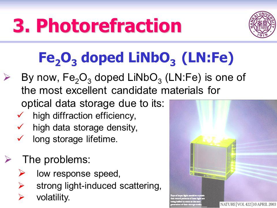Fe2O3 doped LiNbO3 (LN:Fe)