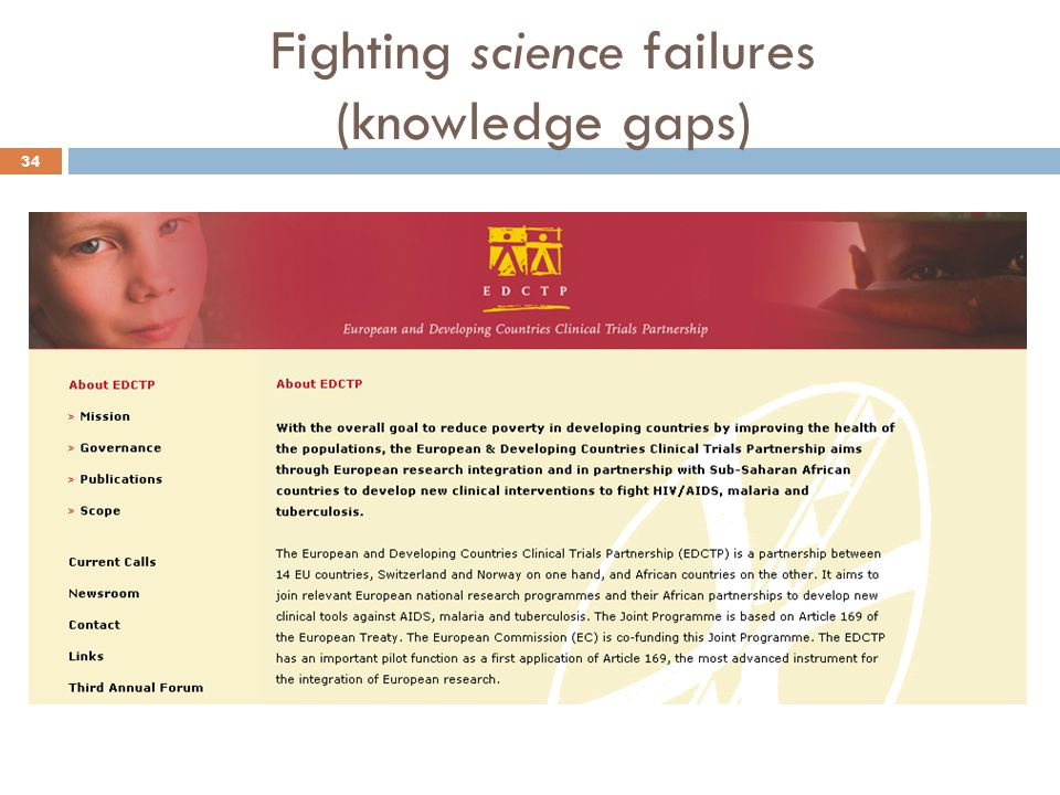 Fighting science failures (knowledge gaps)