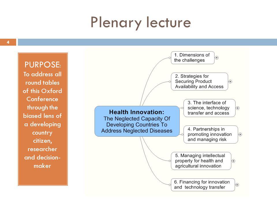 Plenary lecture
