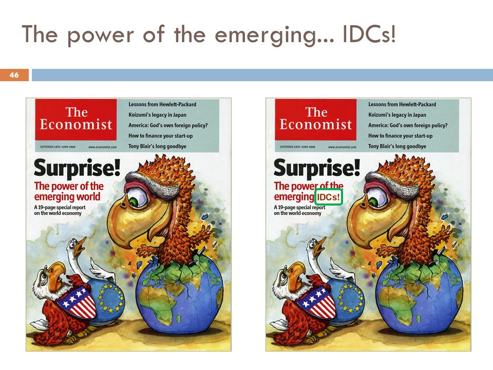 The power of the emerging... IDCs!