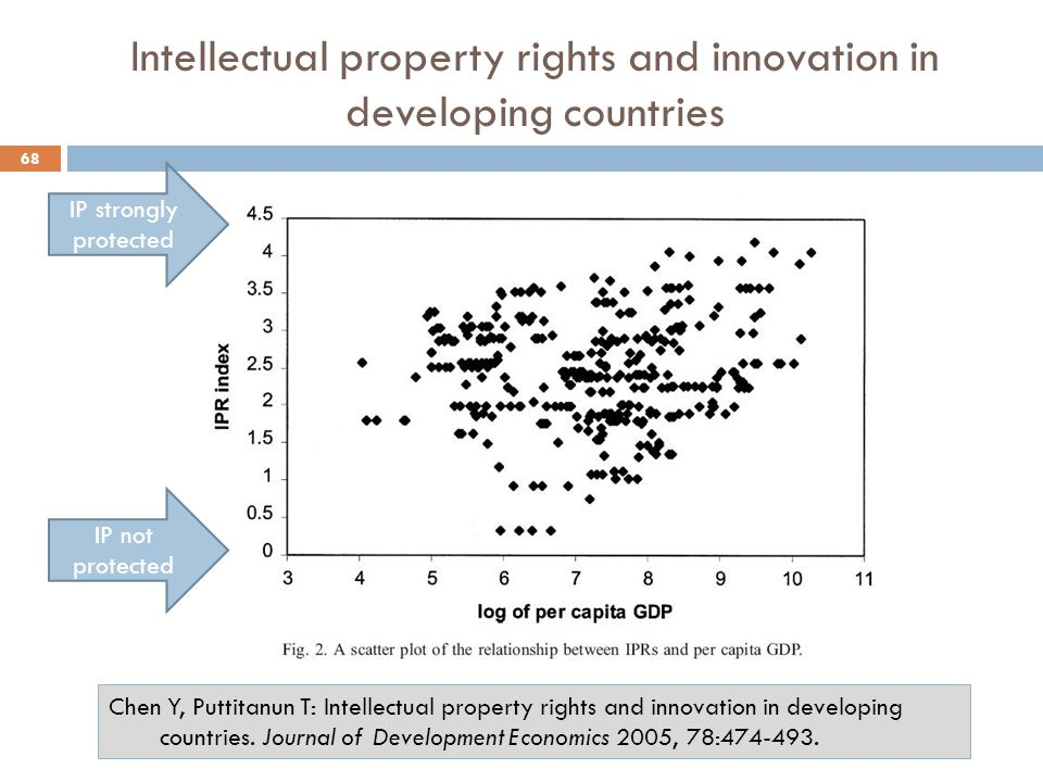 Intellectual property rights and innovation in developing countries