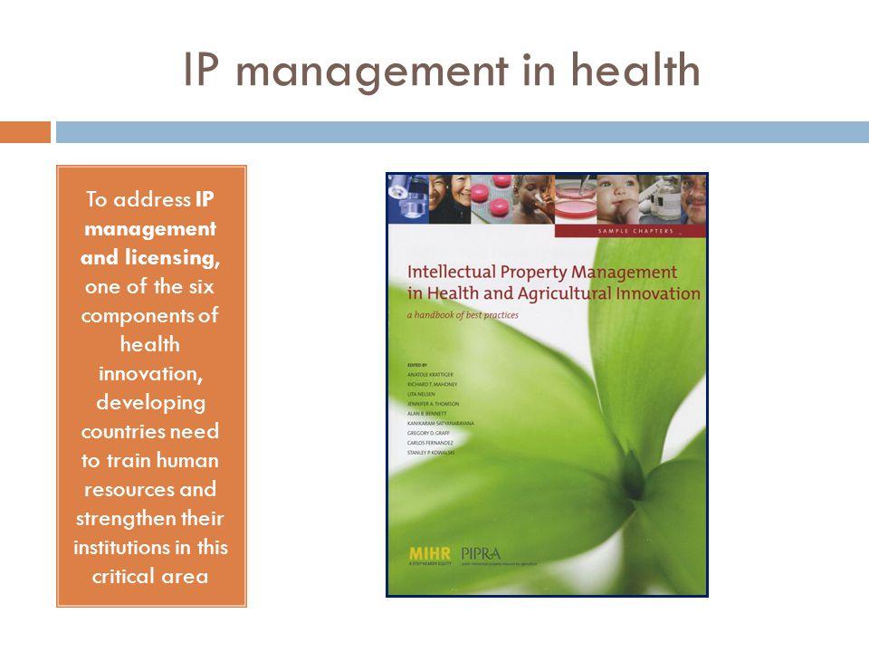 IP management in health
