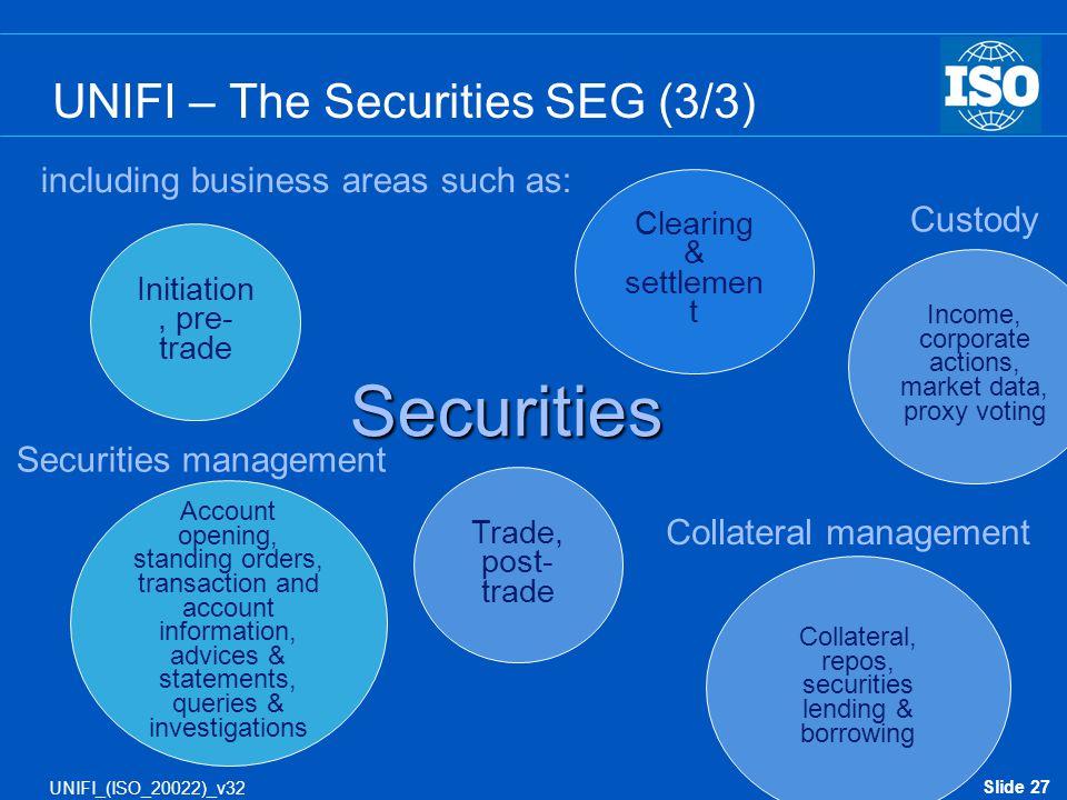 UNIFI – The Securities SEG (3/3)