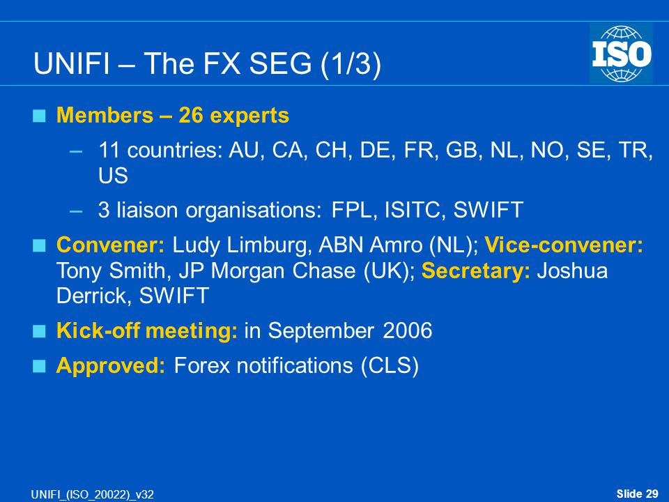 UNIFI – The FX SEG (1/3) Members – 26 experts
