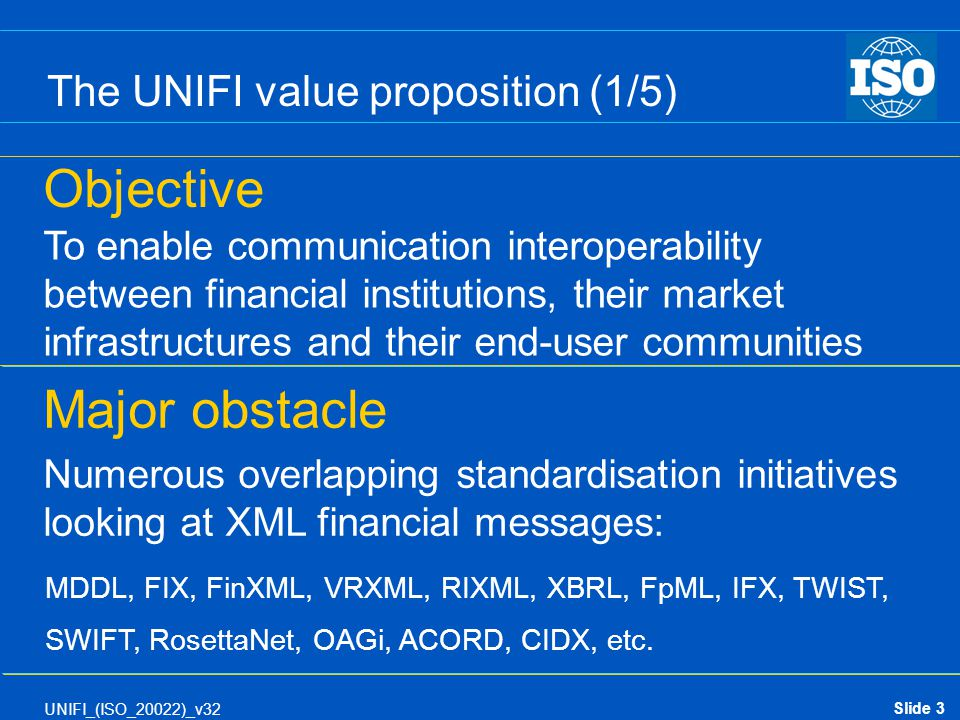 The UNIFI value proposition (1/5)