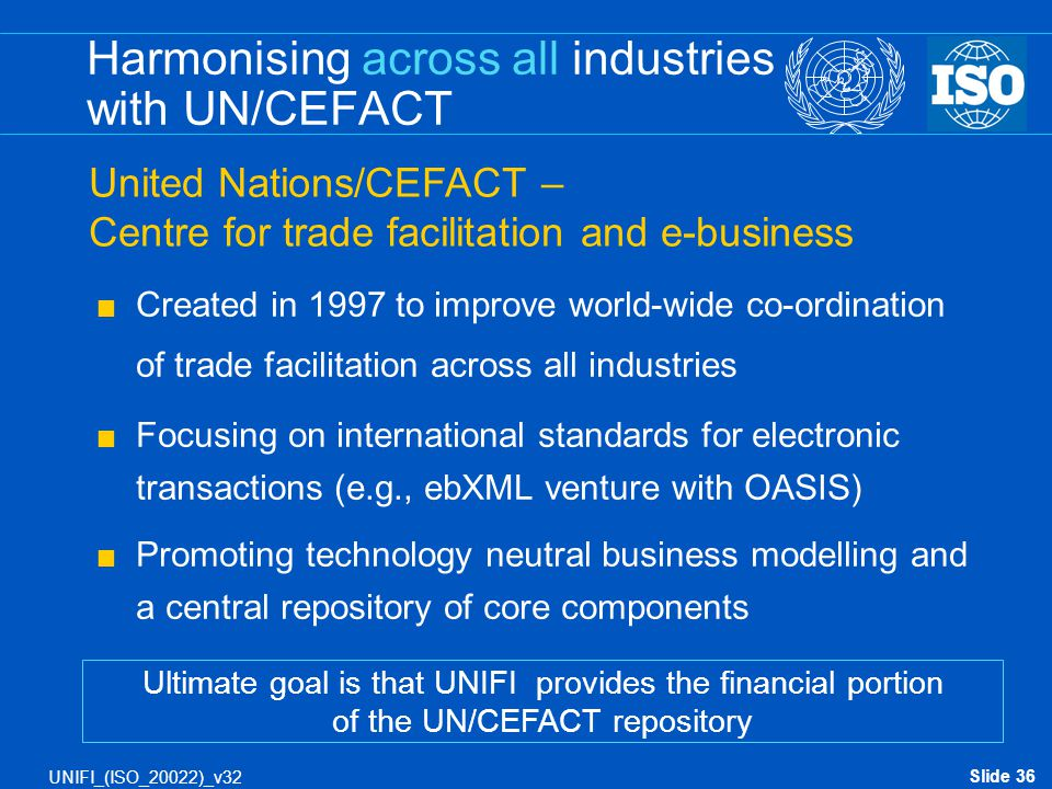 Harmonising across all industries with UN/CEFACT