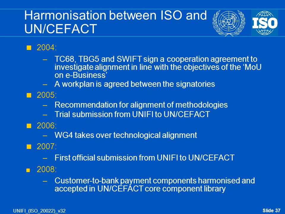 Harmonisation between ISO and UN/CEFACT
