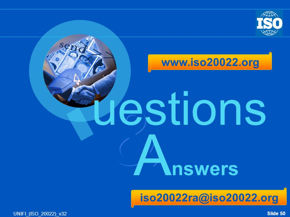 & Answers uestions www.iso20022.org iso20022ra@iso20022.org