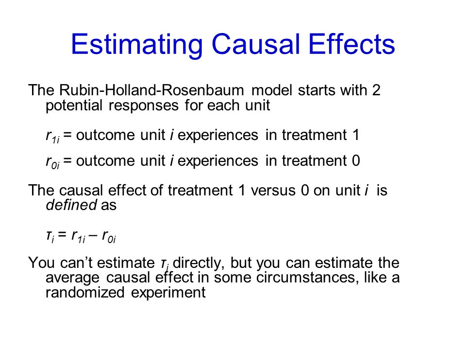 Estimating Causal Effects