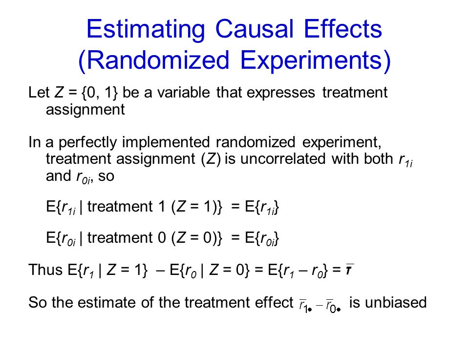 Estimating Causal Effects (Randomized Experiments)