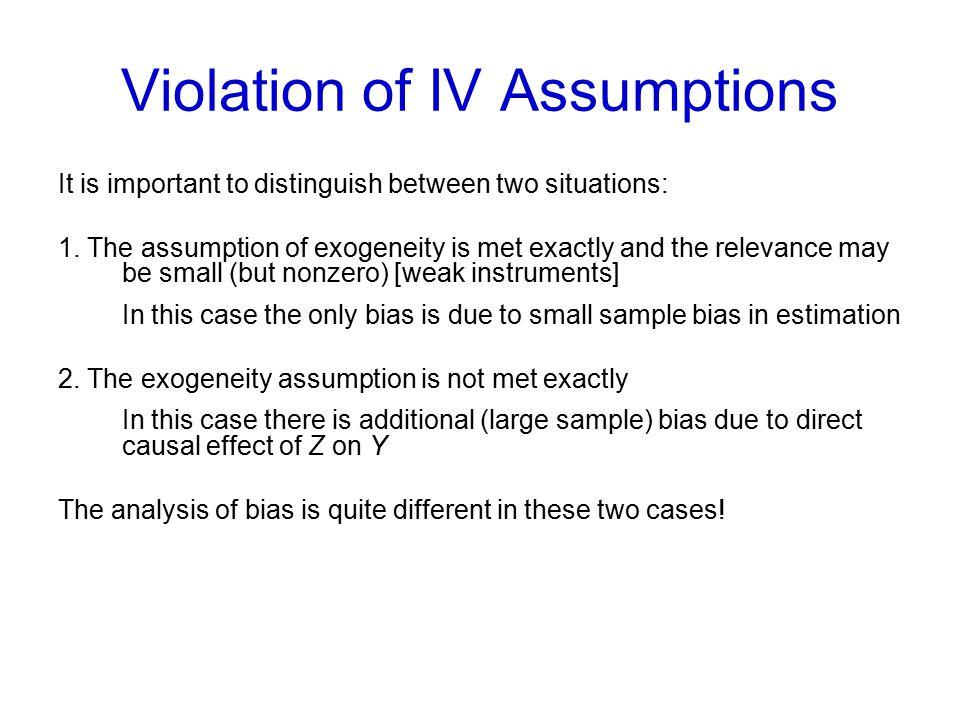 Violation of IV Assumptions