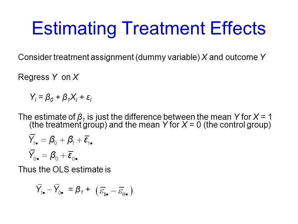 Estimating Treatment Effects