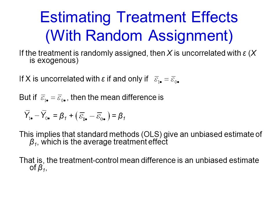 Estimating Treatment Effects (With Random Assignment)