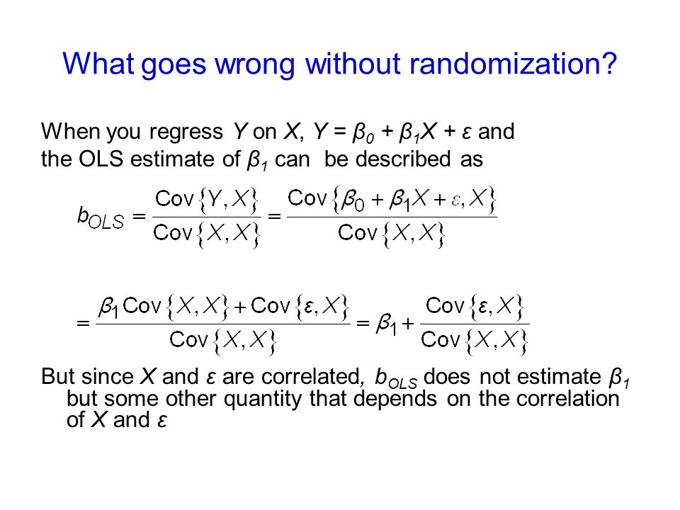 What goes wrong without randomization