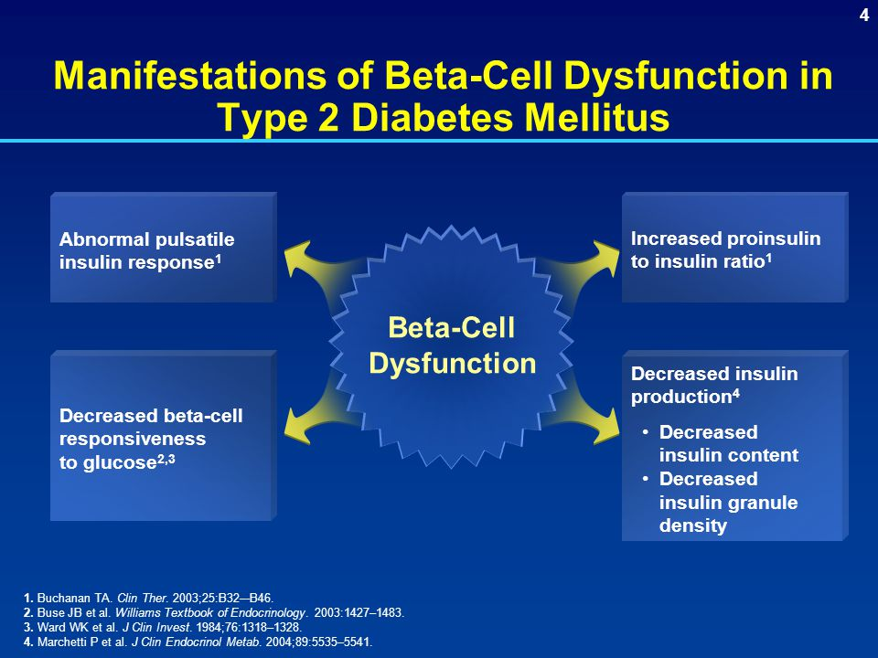 Manifestations of Beta-Cell Dysfunction in Type 2 Diabetes Mellitus