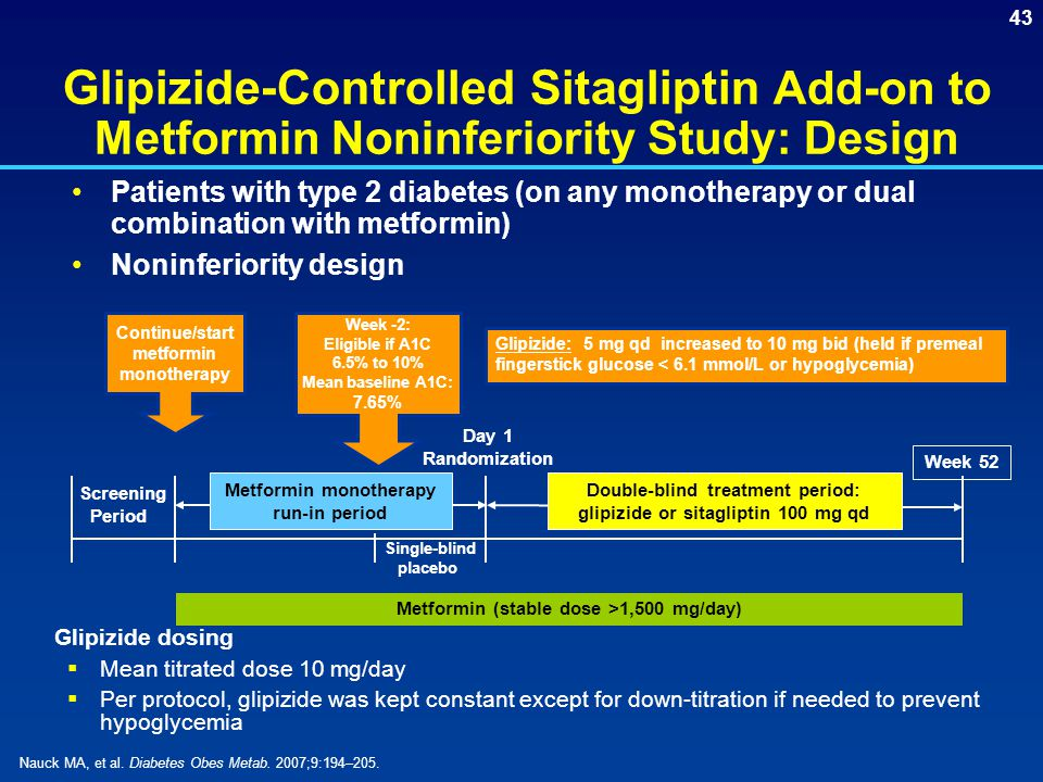 Glipizide-Controlled Sitagliptin Add-on to Metformin Noninferiority Study: Design