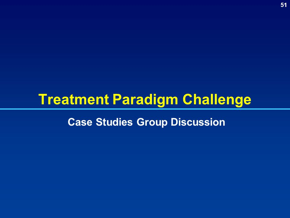 Treatment Paradigm Challenge