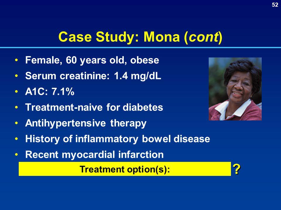 Case Study: Mona (cont)