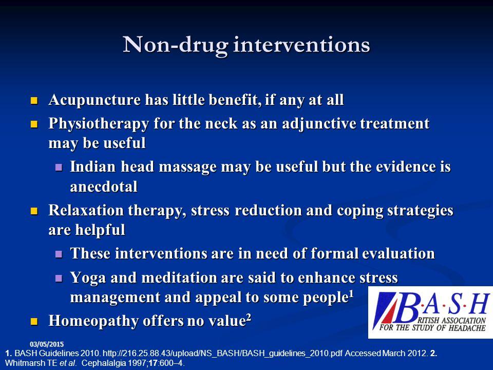 Non-drug interventions