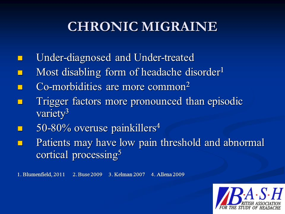 CHRONIC MIGRAINE Under-diagnosed and Under-treated