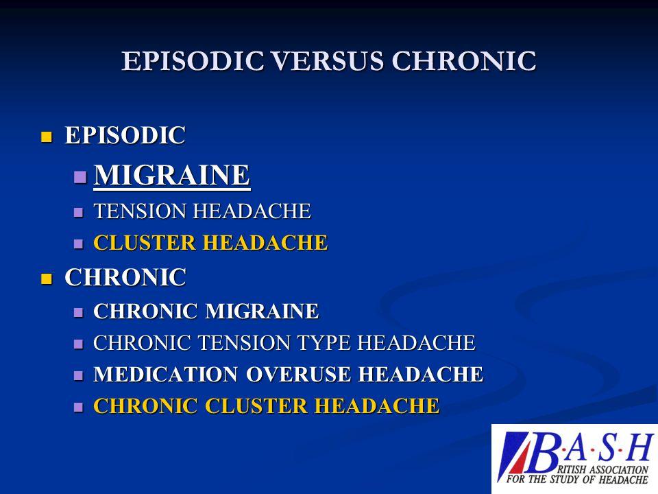 EPISODIC VERSUS CHRONIC