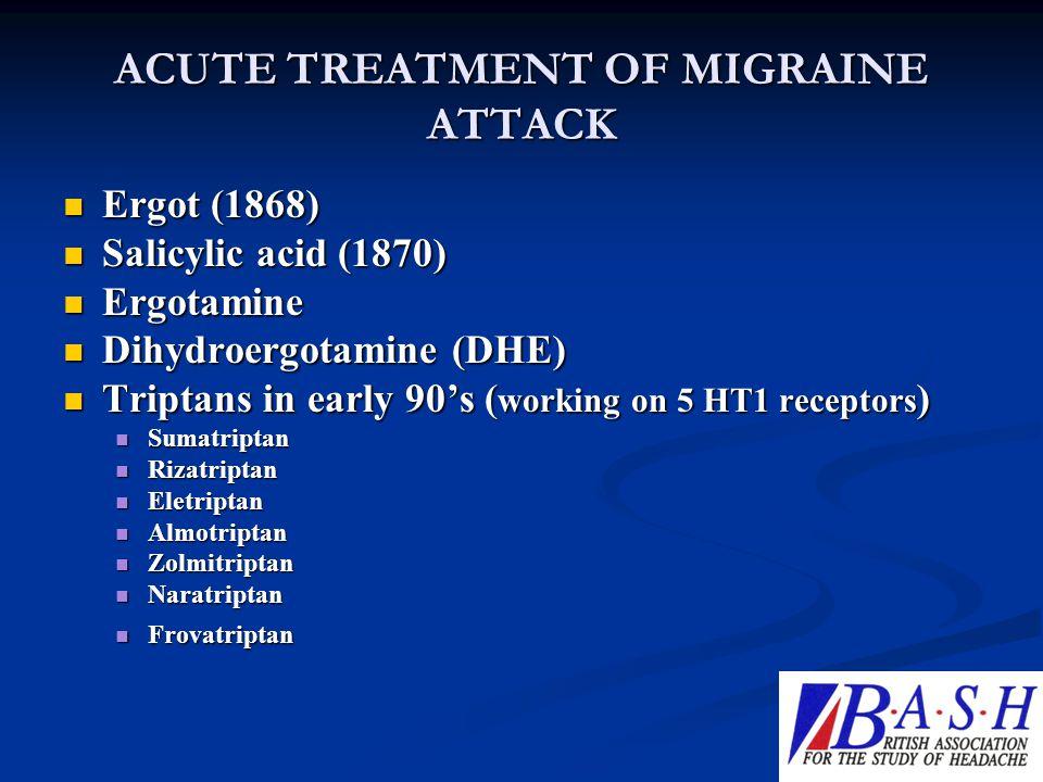 ACUTE TREATMENT OF MIGRAINE ATTACK