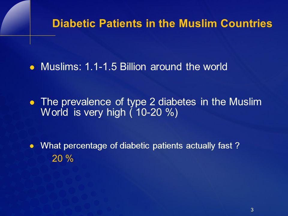 Diabetic Patients in the Muslim Countries