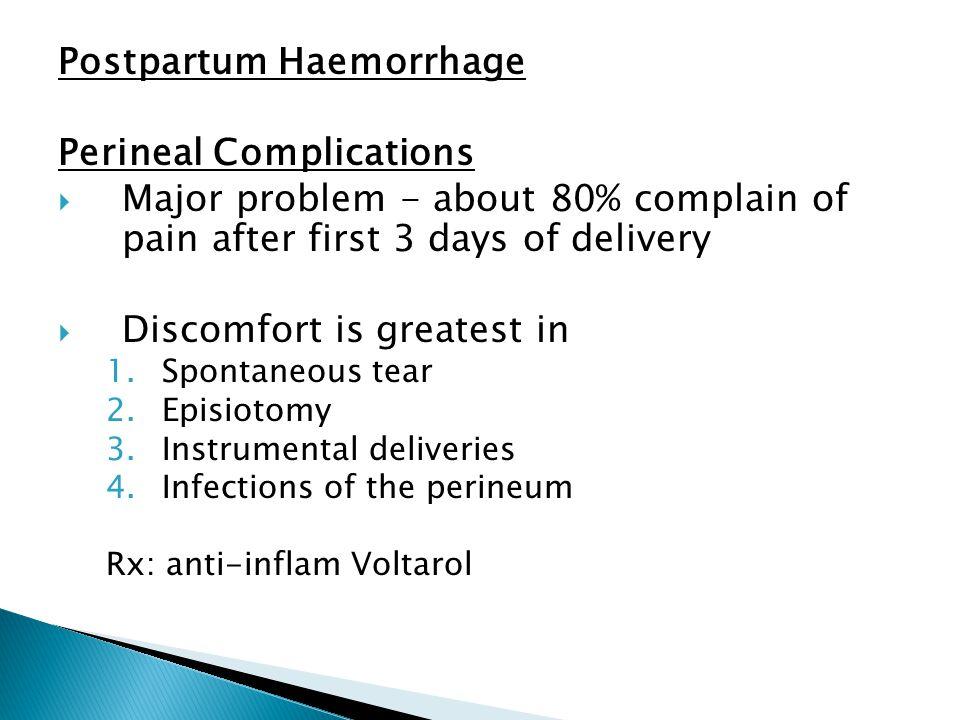 Postpartum Haemorrhage Perineal Complications