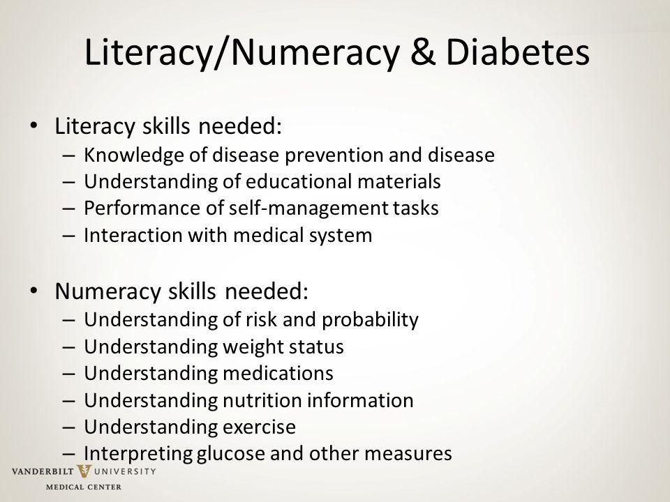 Literacy/Numeracy & Diabetes