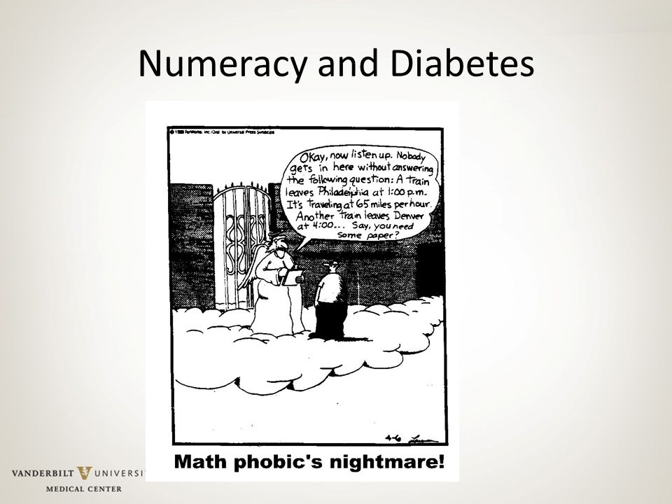 Numeracy and Diabetes