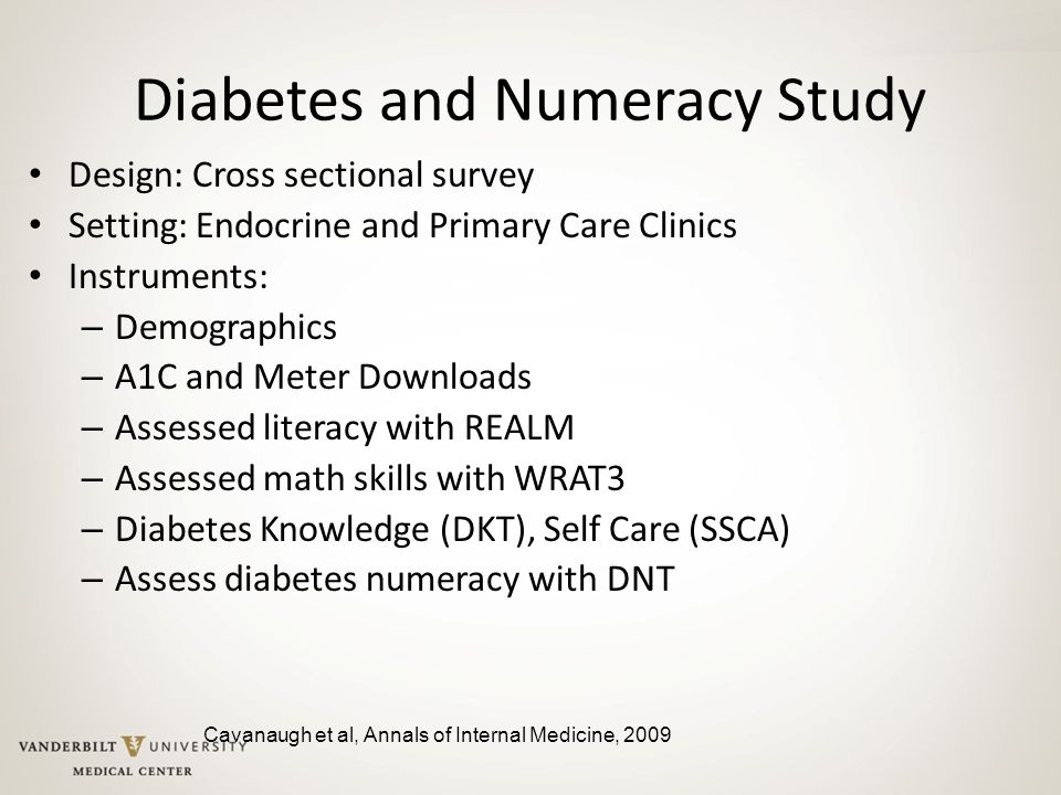 Diabetes and Numeracy Study