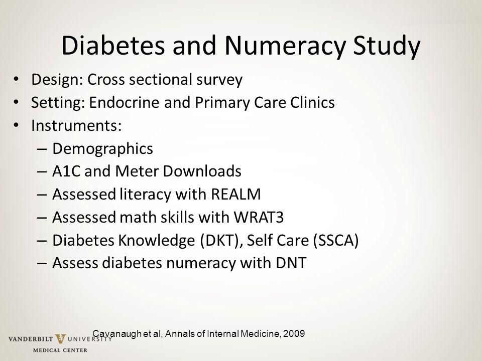 Diabetes and Numeracy Study