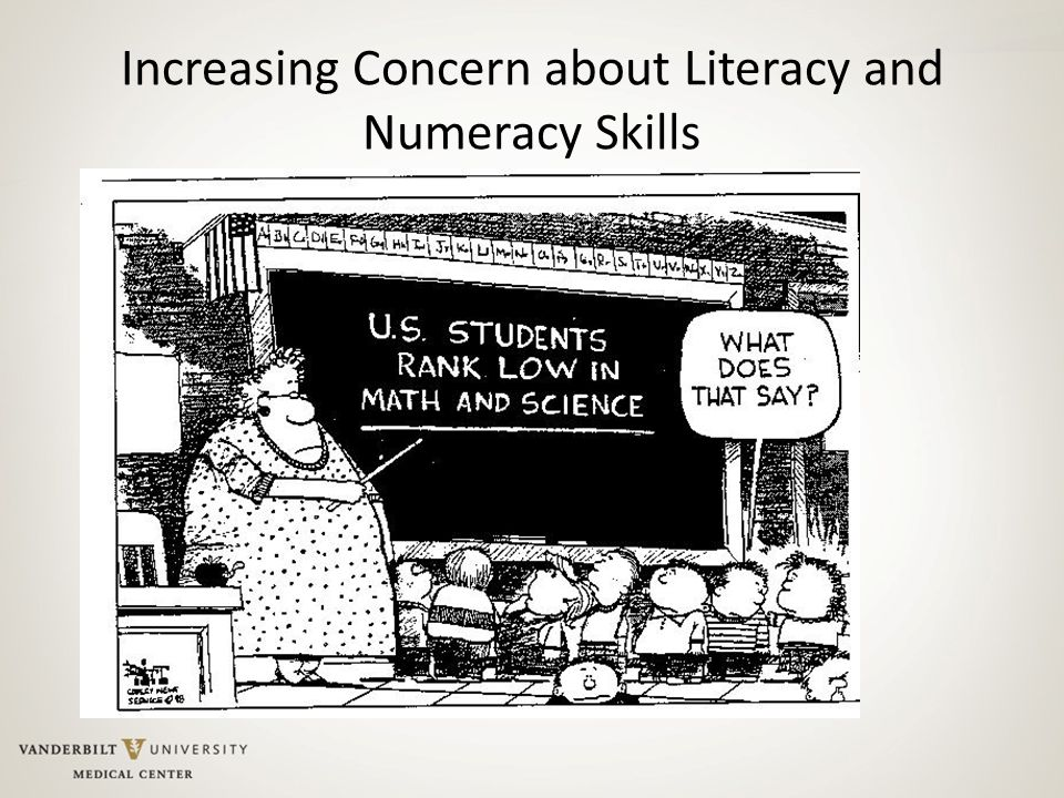 Increasing Concern about Literacy and Numeracy Skills