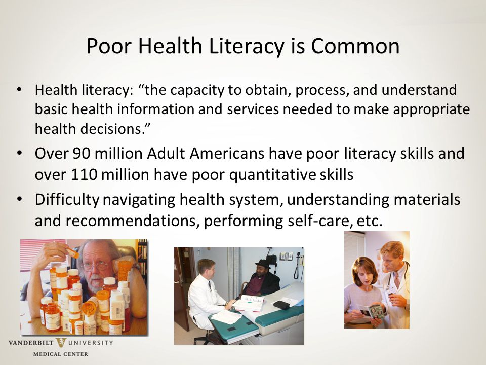 Poor Health Literacy is Common