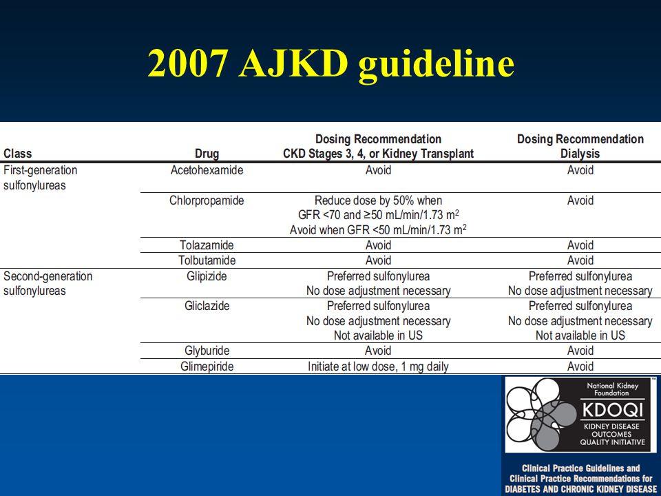 2007 AJKD guideline