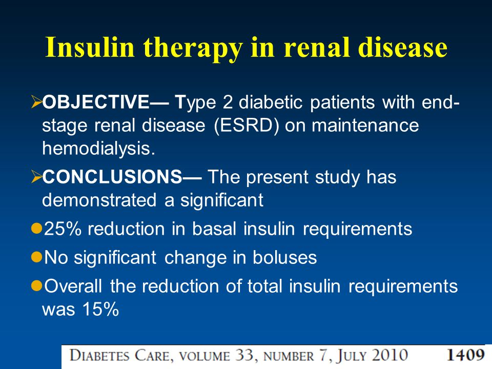 Insulin therapy in renal disease