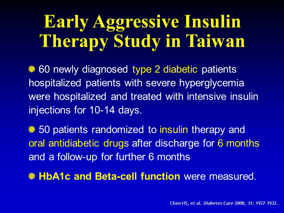 Early Aggressive Insulin Therapy Study in Taiwan