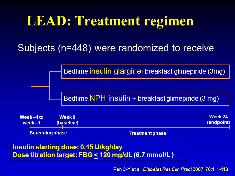 LEAD: Treatment regimen