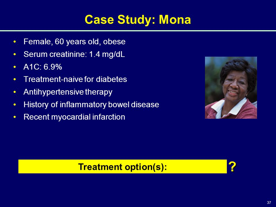 Case Study: Mona Treatment option(s): Female, 60 years old, obese