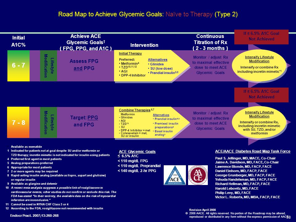 Road Map to Achieve Glycemic Goals: Naïve to Therapy (Type 2)